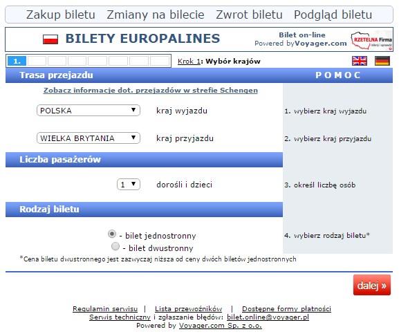 Linie autokarowe Sindbad Niemcy, polska niemcy
